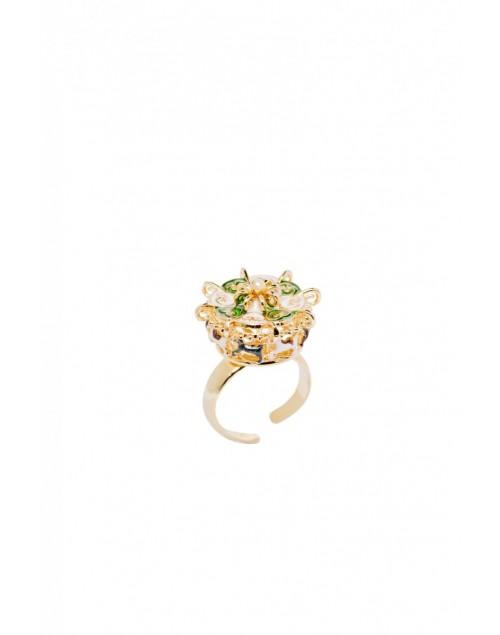 Anello donna bronzo gold Manege Giostra - Le Carose - Toco d'encanto gioielli - SALDI