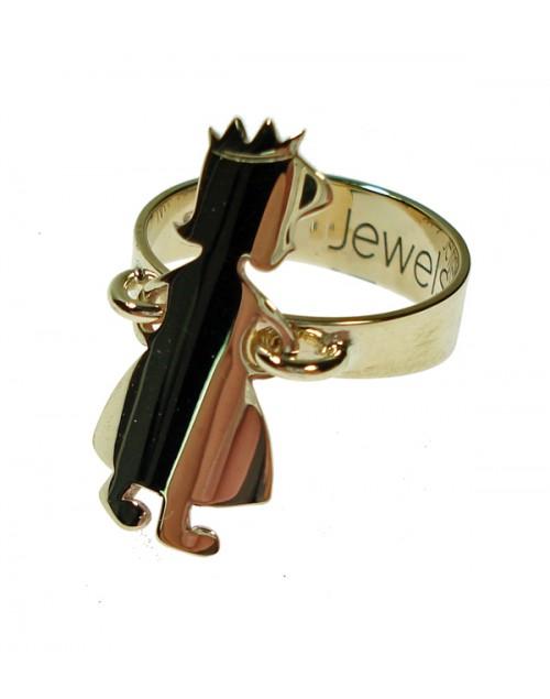 """Anello """"Principessa"""" My Family in oro giallo 9kt misura 16 - My Jewels"""