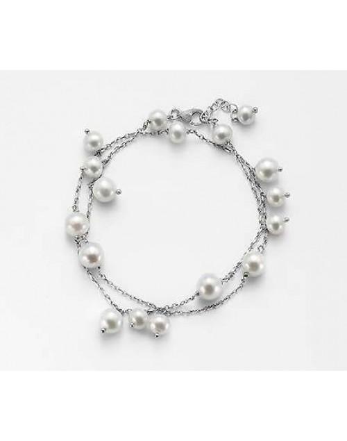 Bracciale donnna argento charms perle - Nihama