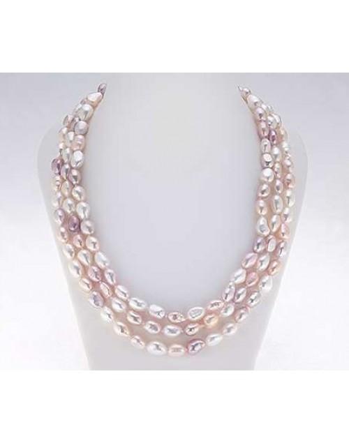 Collana Filo lungo Perle Multicolor Baroque 9/10 cm. 150 - Nihama