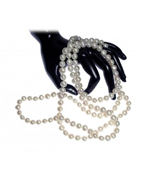 Collana donnna Filo lungo Perle Baroque 8/9 cm. 160 - Nihama
