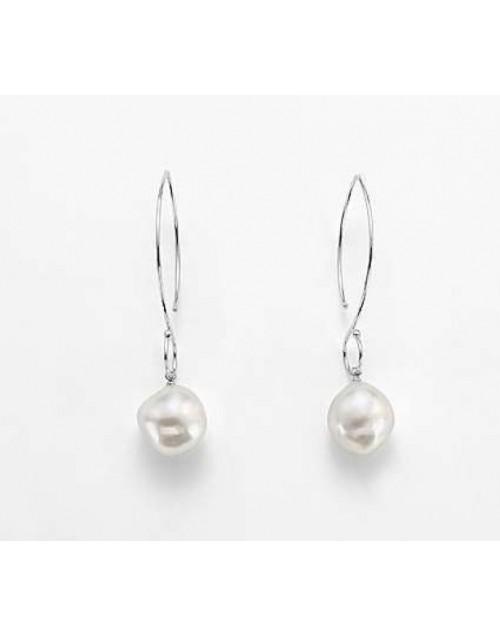 Orecchini donna argento con perle 13/14 - Nihama