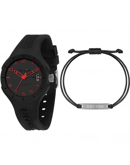 Orologio Sector Speed kit con bracciale red