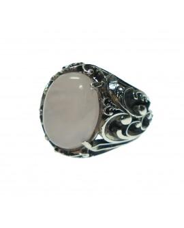 Anello donna Argento 925 Labriò gioielli con pietre naturali quarzo rosa