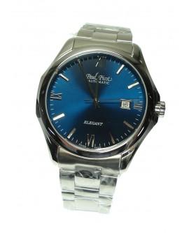 Orologio uomo solo tempo Paul Picot Elegant Automatico Acciaio Blu Swiss Made