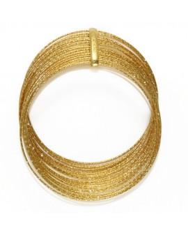 Bracciale donna rigido bronzo gold multifilo - Giodè i preziosi