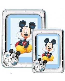 Portafoto bimbi Disney Celeste Topolino 13x18 - Mida argenti