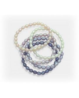 Bracciali molla Perle 5 pezzi 5,5/6 multicolor - Nihama