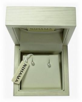 Orecchini Perle 4/4,5 oro bianco - Nihama