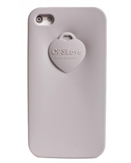 OPS!COVER Love Iphone 4/4s Grigio in silicone profumato - OpsObjects - OUTLET - SALDI