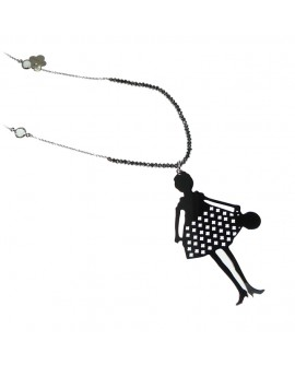 Collana donna bronzo Bambola GoldStone Grigio - Le Carose - Toco d'encanto gioielli - SALDI
