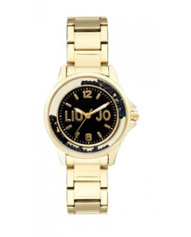 Orologio donna acciaio Dancing Steel Mini Gold black - Liu Jo Luxury - SALDI