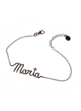 Bracciale con nome argento rose gold Marcello Pane Letters Maria