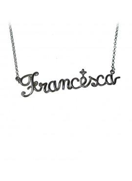 Collana con nome donna argento Marcello Pane Letters FRANCESCA
