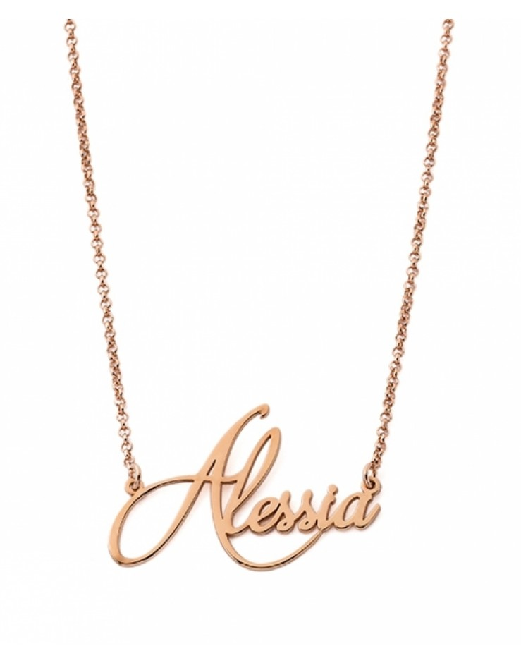 Collana personalizzata con nome Mi Racconto argento rose gold