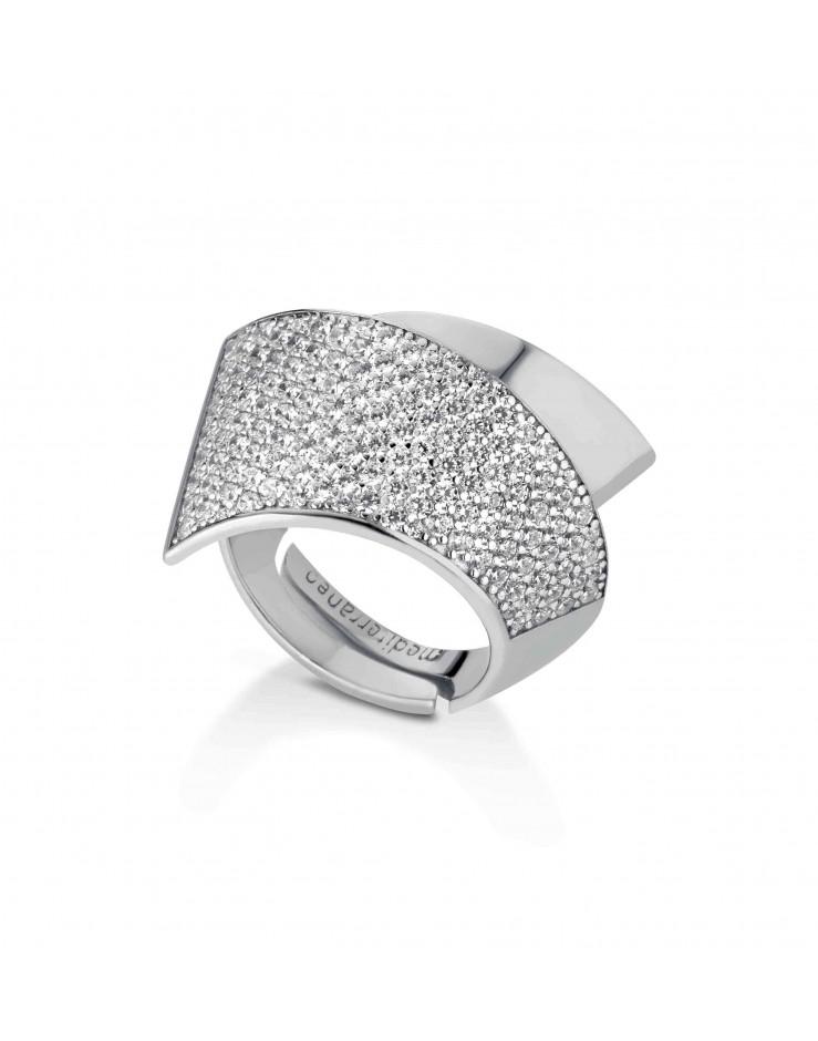 Anello donna argento e cristalli Mediterraneo gioielli - misura 14