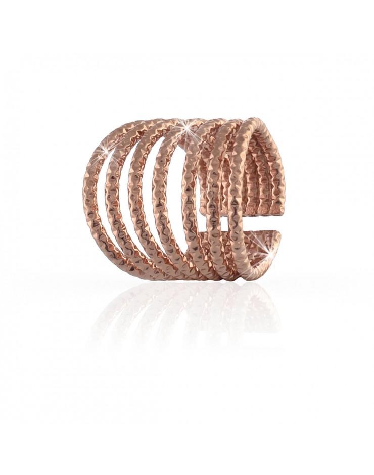 Anello donna fascia bronzo rosa - UnoAErre