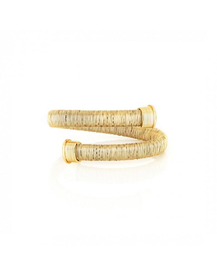 Bracciale donna bronzo dorato rigido - UnoAErre