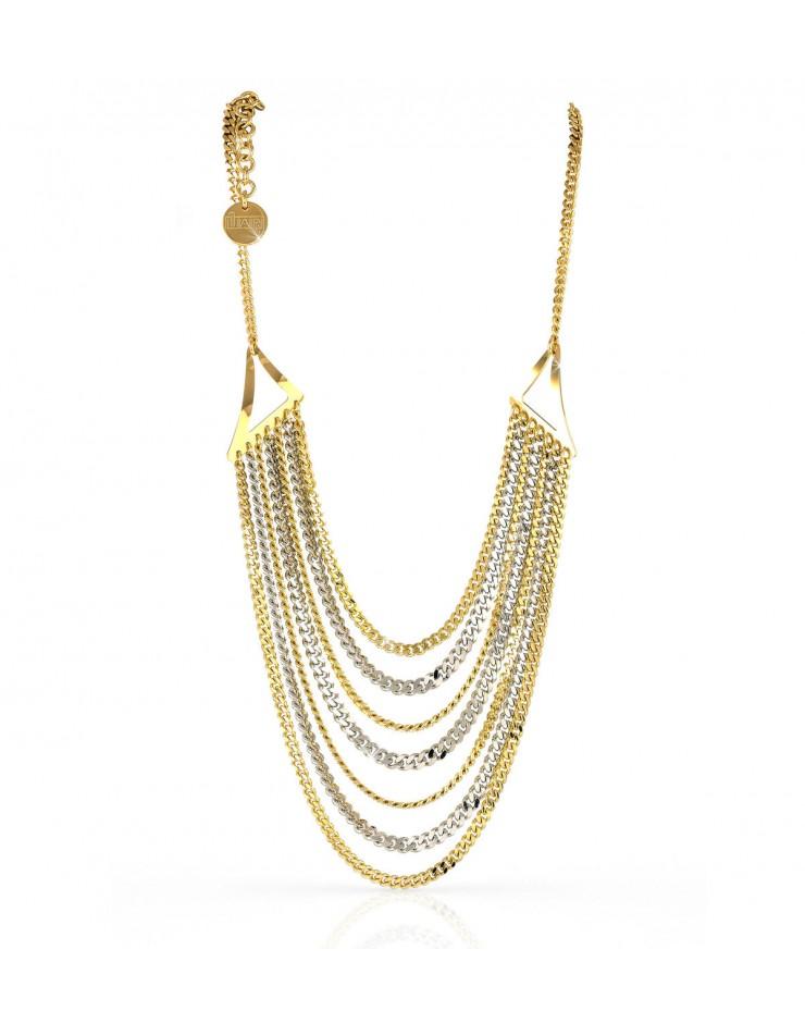 Collana donna multifilo grumetta bronzo - UnoAErre