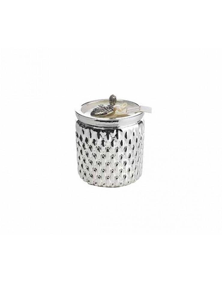 Candela Argenesi Fragrance Afrodite cm. 7,5 h.cm. 7 resina argentata