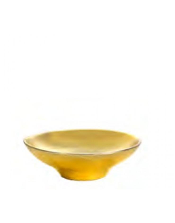 Centrotavola Argenesi Ciotola Mirror vetro  cm. 15 gold edition