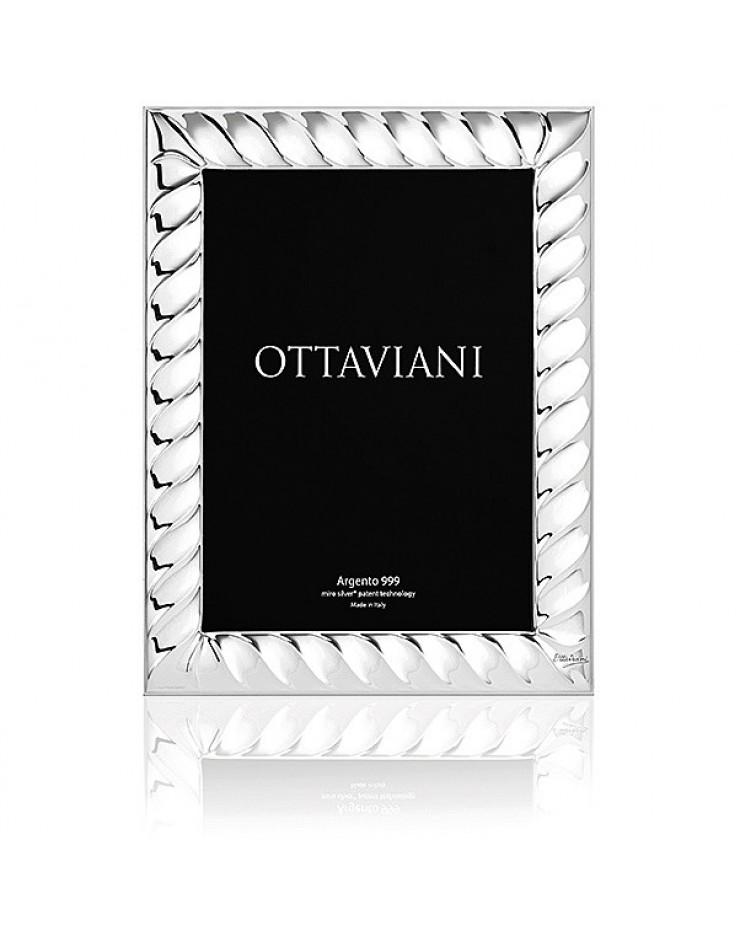 Portafoto cornice 13x18 Torcion Miro Silver Ottaviani