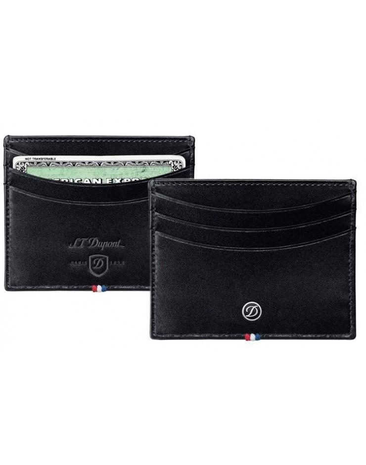 Porta carte di credito Ligne D Elysee pelle black - S.T.Dupont