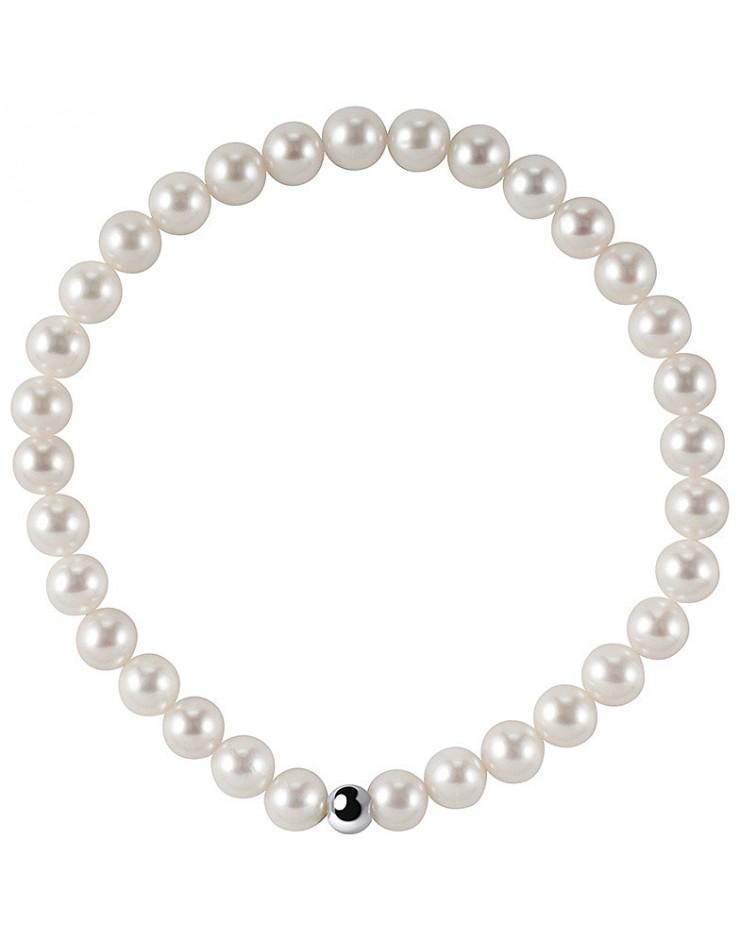 Bracciale perle donna Bliss 5,5/6 molla e oro binco