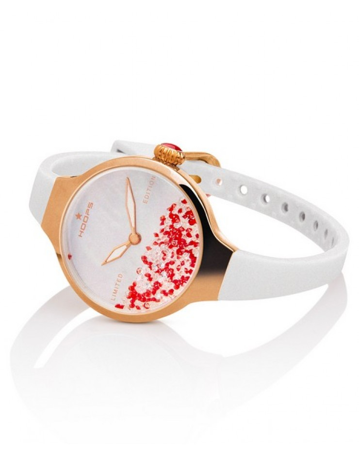 Orologio donna solo tempo Hoops Nuouveau Chèrie Rolling Stones Gold Limited Edition Natale