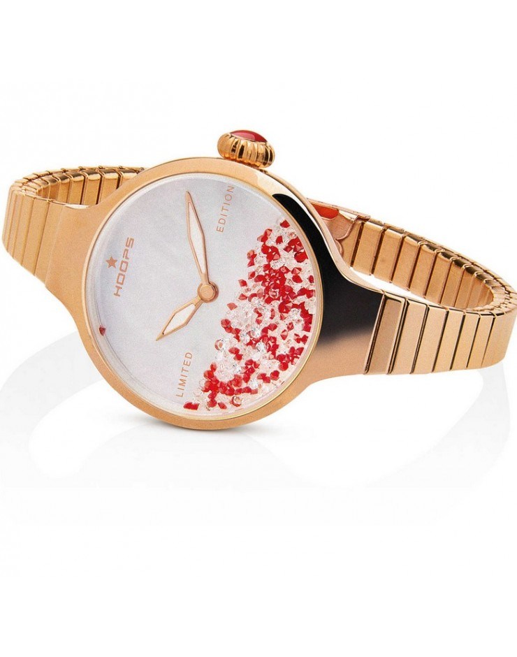 Orologio donna solo tempo Hoops Nuouveau Chèrie Rolling Stones Elastic Gold Limited Edition Natale