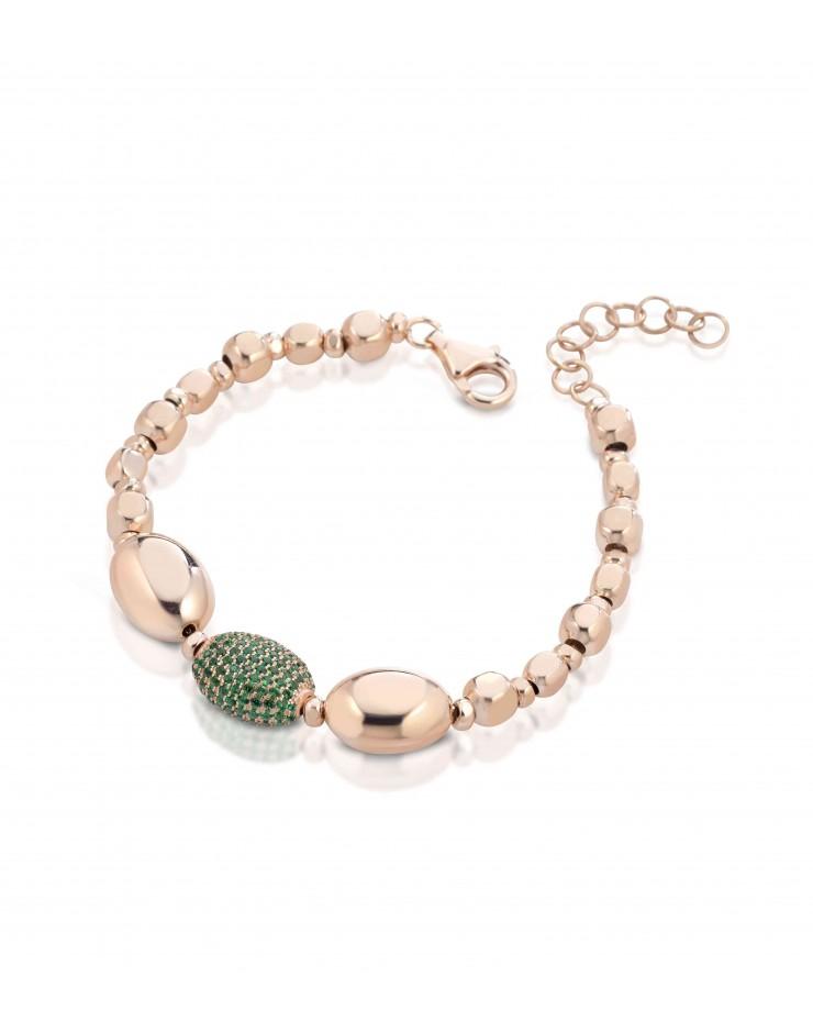 Bracciale donna argento rosè grren Mediterraneo gioielli