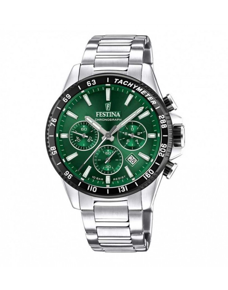 Orologio uomo Festina acciaio cronografo verde