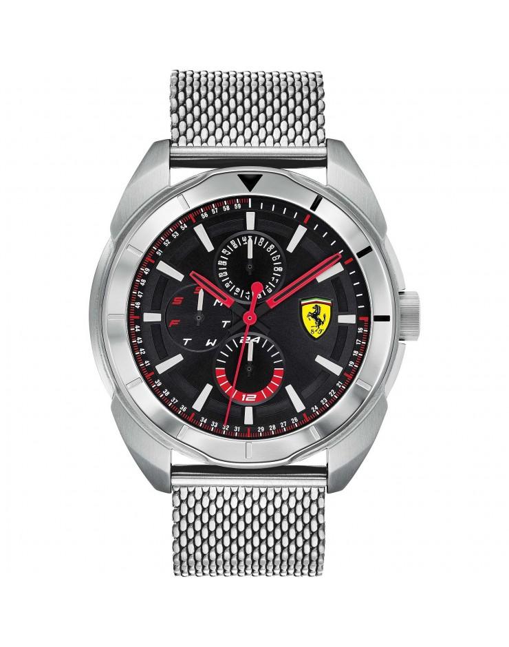 Orologio multifunzione uomo Acciaio Ferrari Black - Scuderia Ferrari