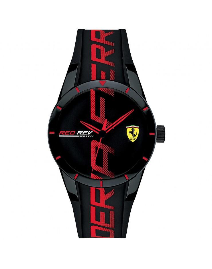 Orologio Solo Tempo uomo RedRev mm. 38 Black Scuderia Ferrari - Ferrari