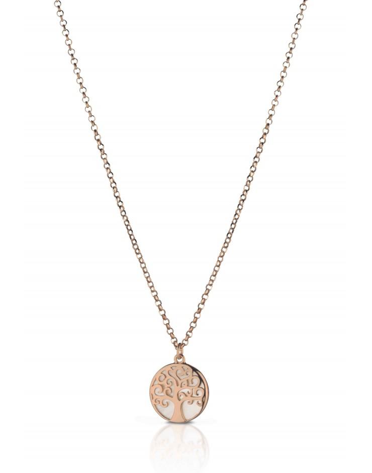 Collana donna argento rosè madreperla Mediterraneo Albero della vita piccolo
