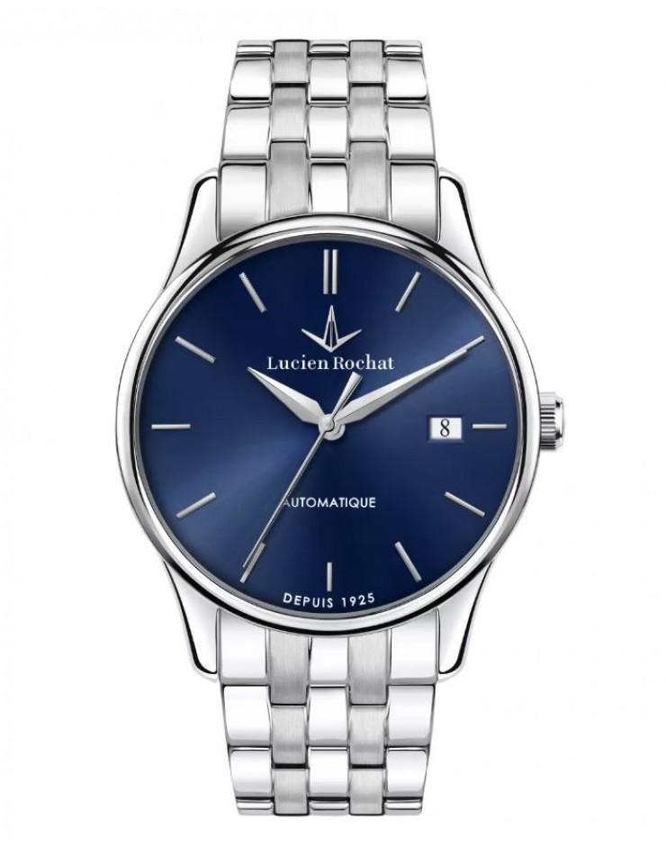 Orologio uomo solo tempo Automatico Lucien Rochat Montreux Acciaio Blu