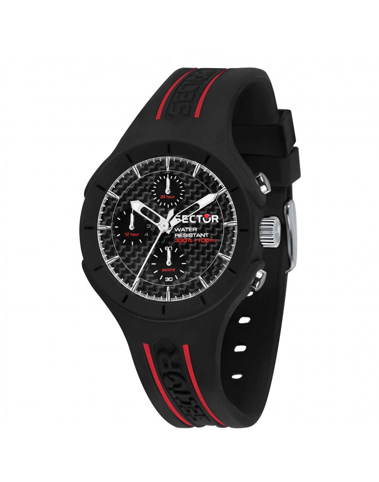 Orologio uomo Sector Speed Multifunzione Black/Red