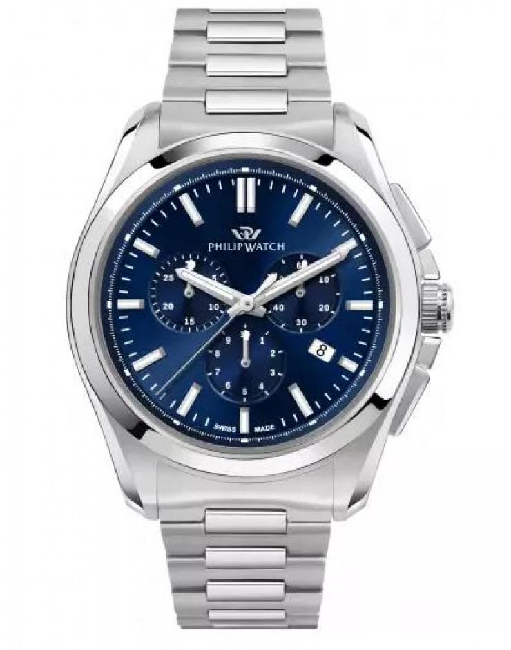 Orologio uomo solo tempo Philip Watch Amalfi Swiss Made Blue