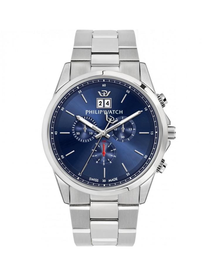 Orologio uomo cronografo Philip Watch Capetown Swiss Made Blue