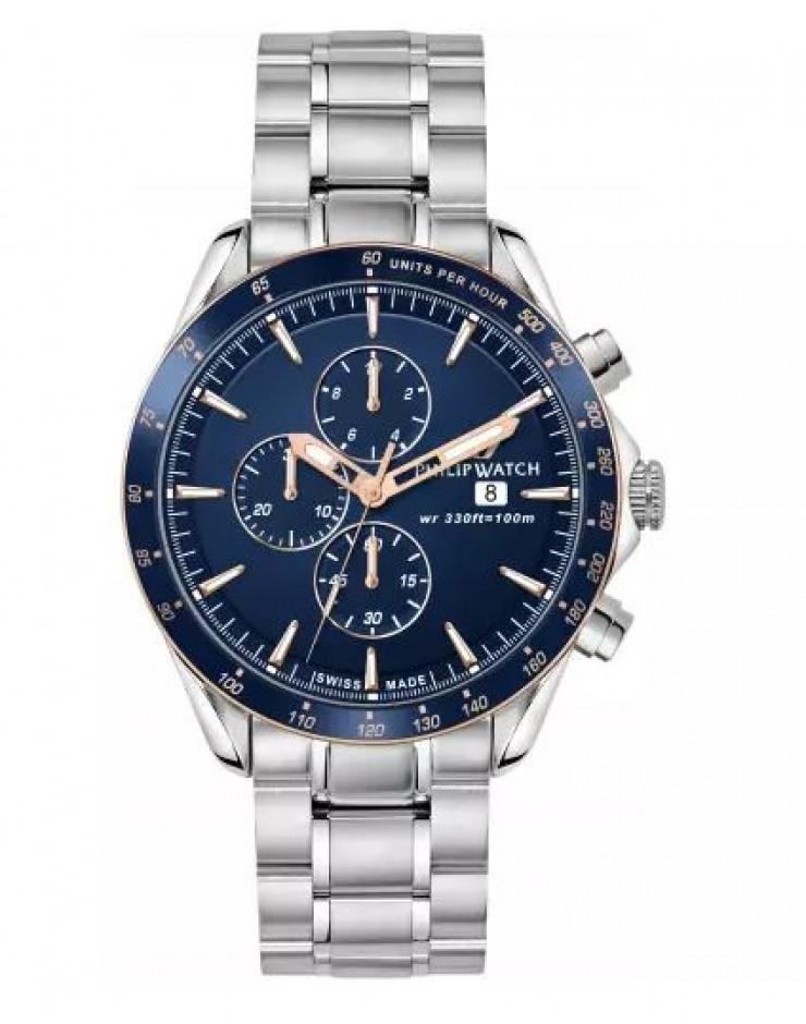 Orologio uomo cronografo Philip Watch Blaze Swiss Made Blue