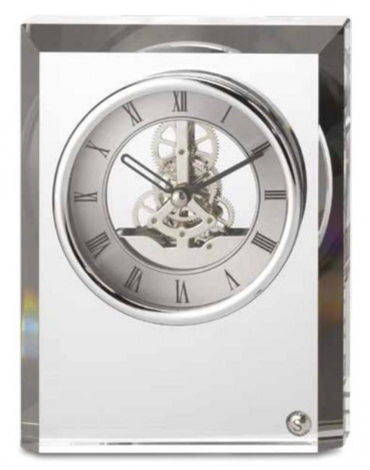 Orologio in cristallo rettangolare - Sovrani